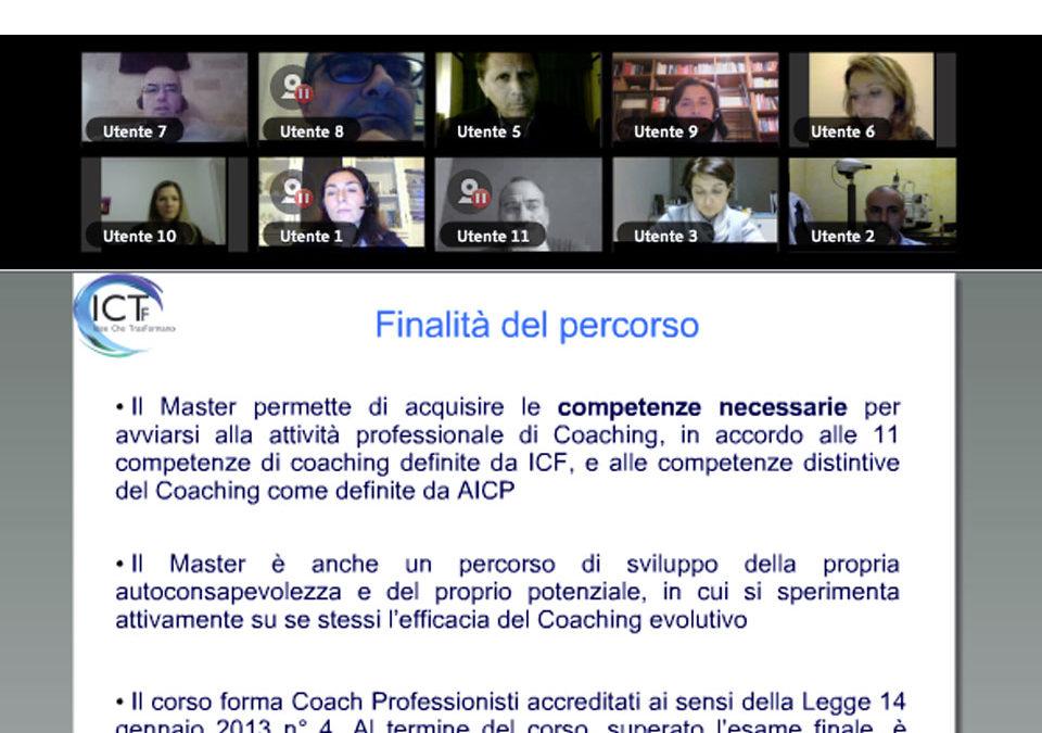 25 ottobre 2017: è iniziato il Master in Coaching evolutivo
